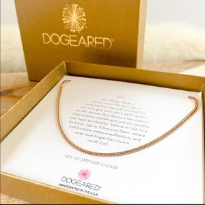 Dogeared rose gold choker
